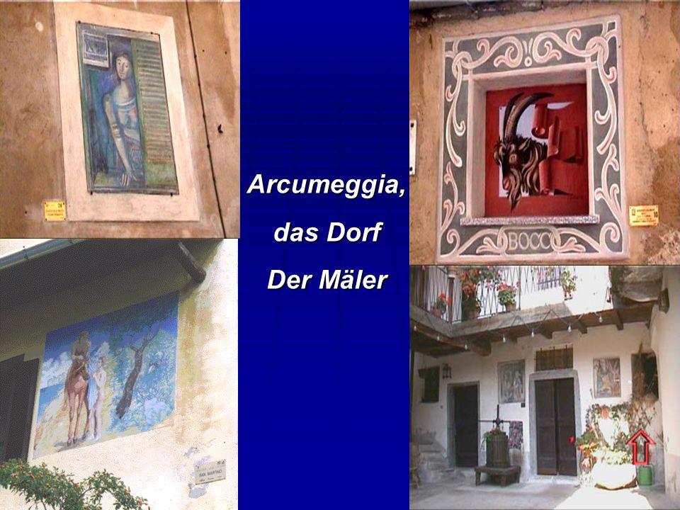 Arcumeggia, das Dorf Der Mäler