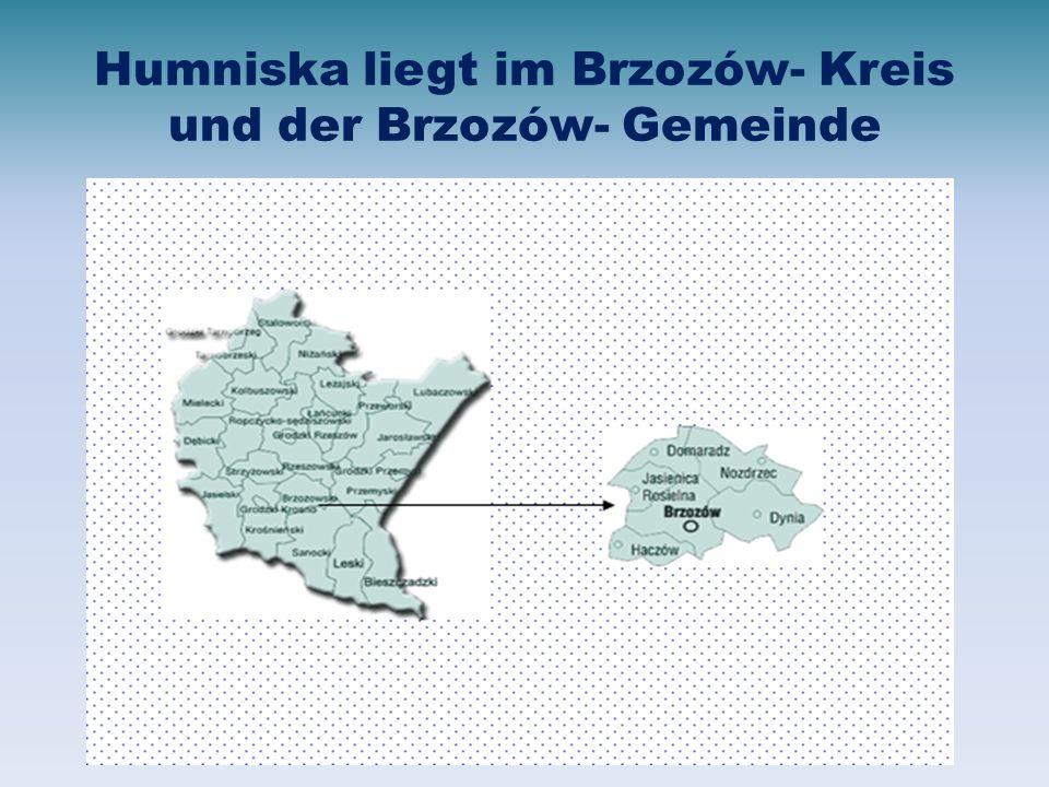Humniska liegt im Brzozów- Kreis und der Brzozów- Gemeinde