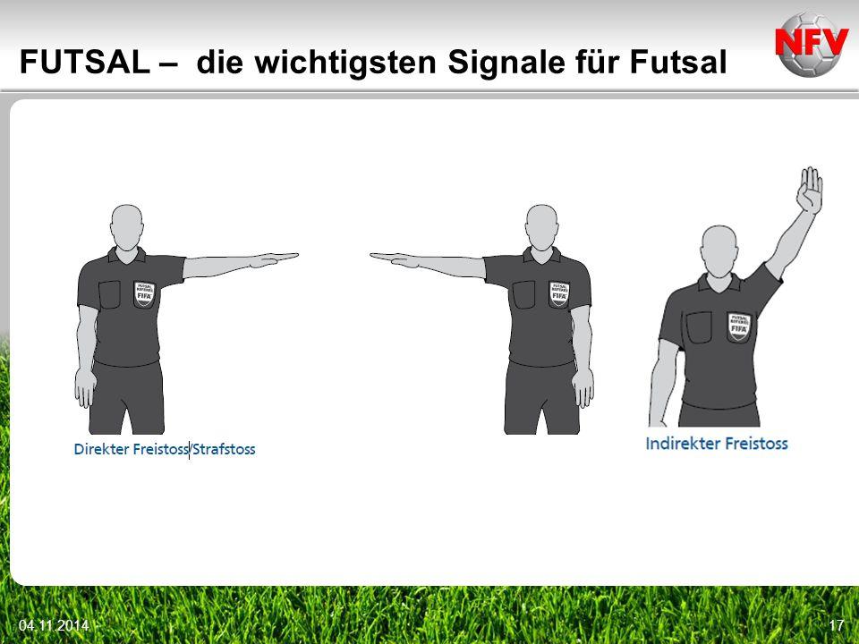 04.11.201417 FUTSAL – die wichtigsten Signale für Futsal