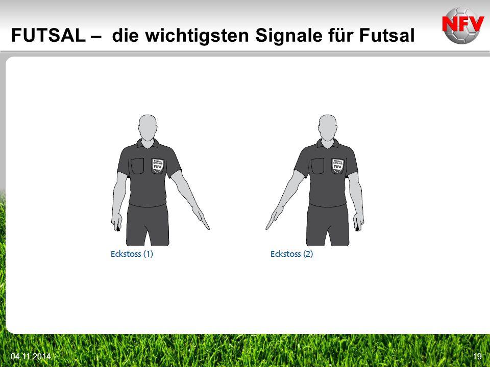 04.11.201419 FUTSAL – die wichtigsten Signale für Futsal