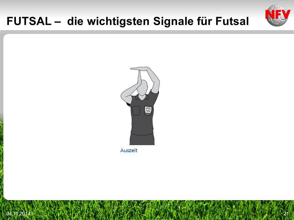04.11.201421 FUTSAL – die wichtigsten Signale für Futsal