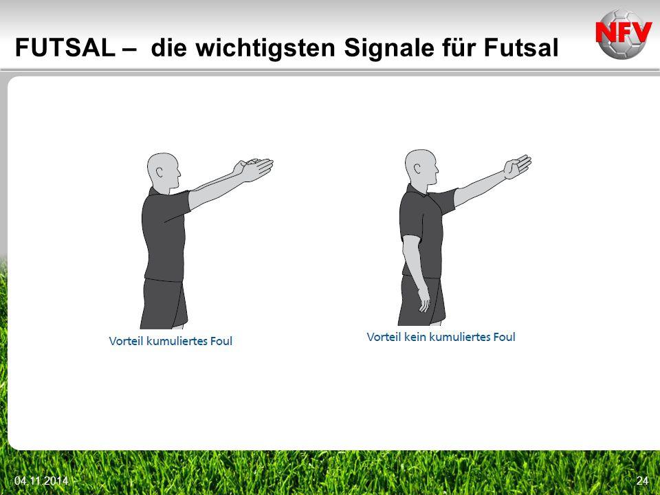 04.11.201424 FUTSAL – die wichtigsten Signale für Futsal