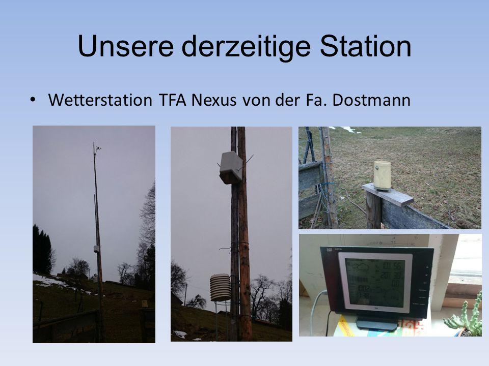 Unsere derzeitige Station Wetterstation TFA Nexus von der Fa. Dostmann