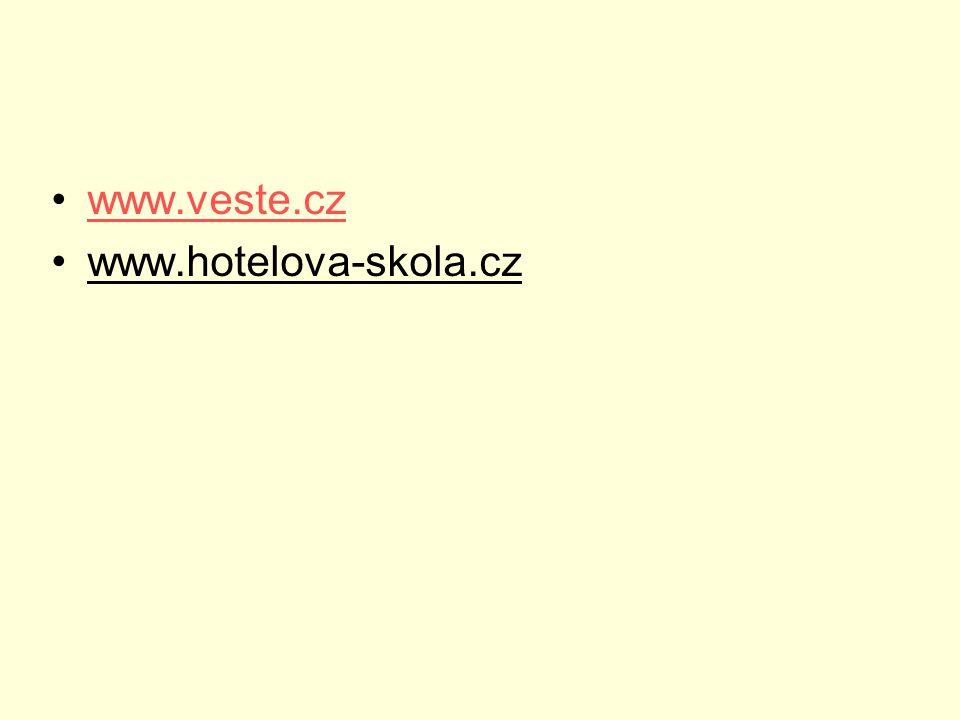 www.veste.cz www.hotelova-skola.cz