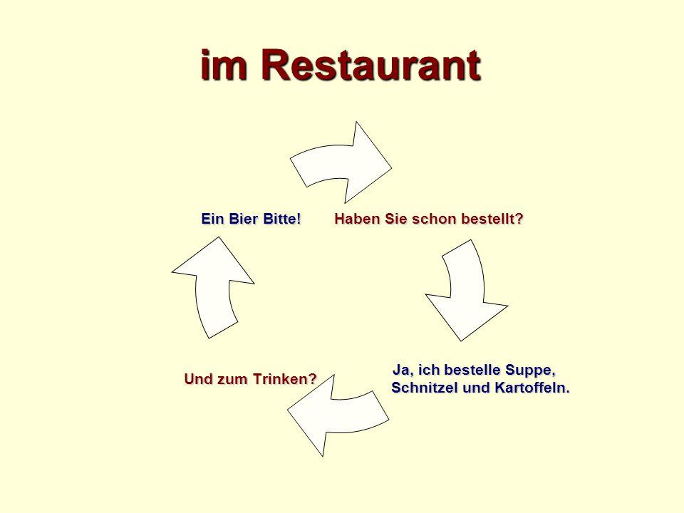 im Restaurant Haben Sie schon bestellt.