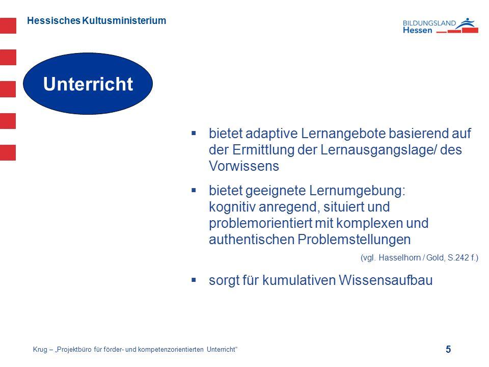 Hessisches Kultusministerium  bietet adaptive Lernangebote basierend auf der Ermittlung der Lernausgangslage/ des Vorwissens  bietet geeignete Lernu