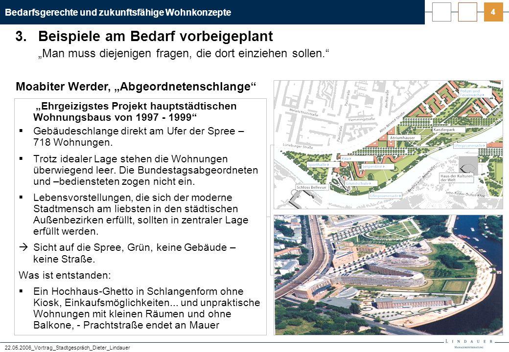 Bedarfsgerechte und zukunftsfähige Wohnkonzepte 22.05.2006_Vortrag_Stadtgespräch_Dieter_Lindauer 25 Die Zukunft einer Kommune entwickelt sich aus kleinen Einheiten.