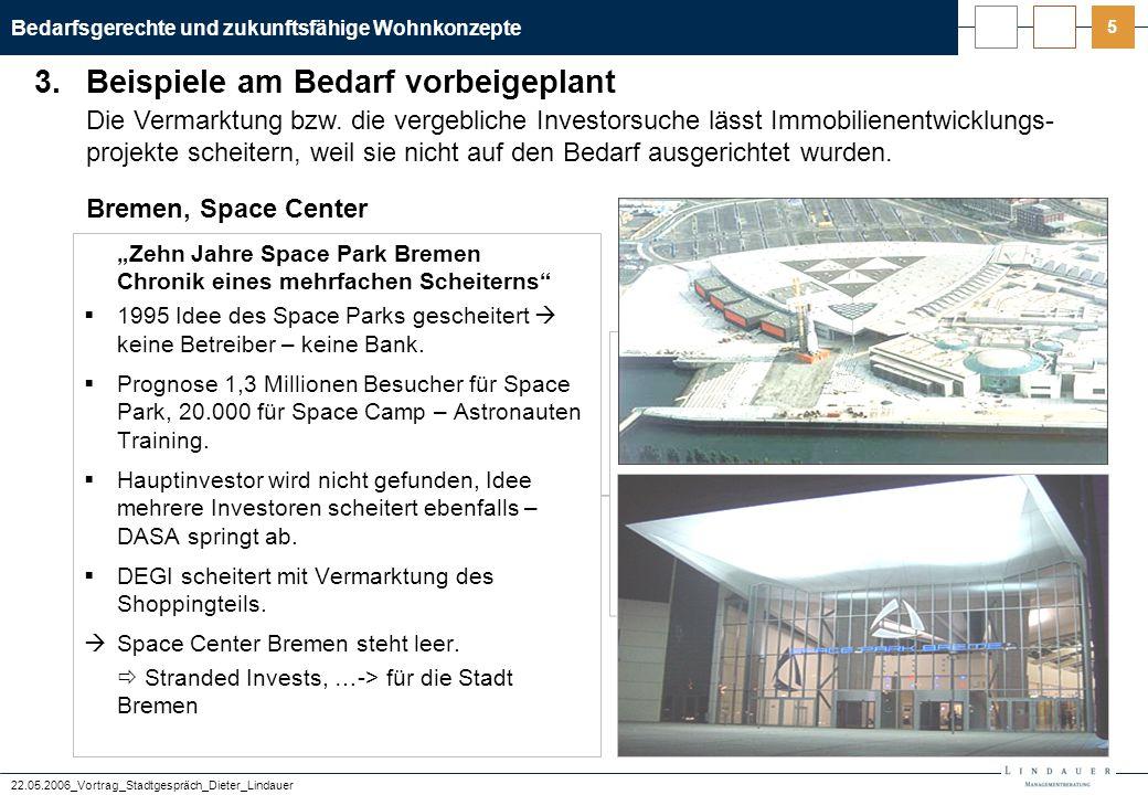 Bedarfsgerechte und zukunftsfähige Wohnkonzepte 22.05.2006_Vortrag_Stadtgespräch_Dieter_Lindauer 6 dornbuschhöfe in Frankfurt werden es nicht leicht haben.