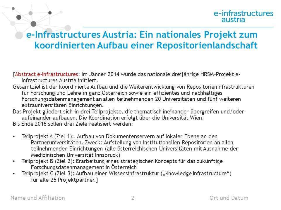 Fact Sheet Start: 1.Januar 2014 Ende: 31.
