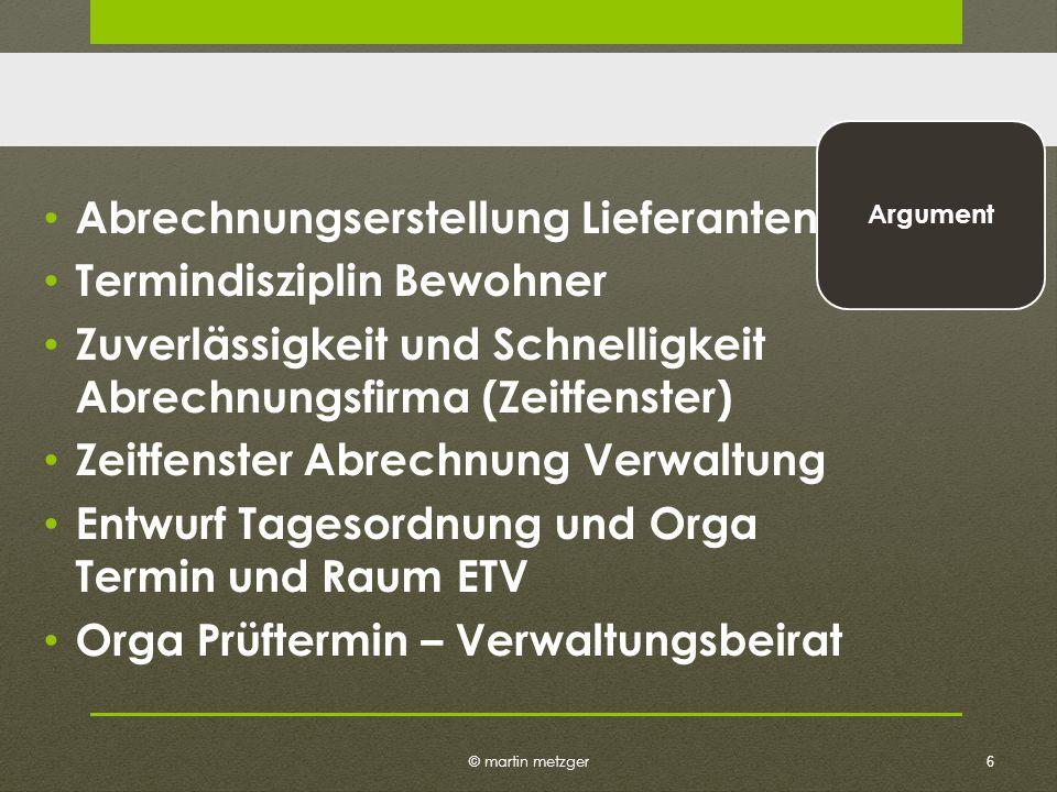 © martin metzger Klarstellung Verwalter ist unzuständig Beseitigungsanspruch ist Individualrecht Keine Abmahn- bzw.