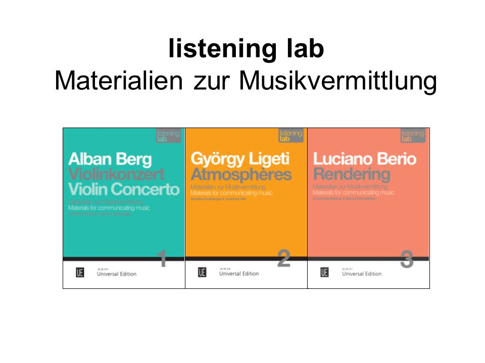 listening lab Materialien zur Musikvermittlung