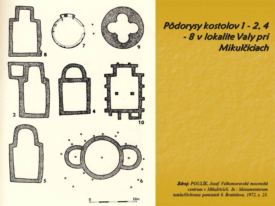 Pôdorysy ve ľ komoravských sakrálnych stavieb v aglomerácii Staré M ě sto – Uherské Hradišt ě Zdroj: HRUBÝ, Vilém.