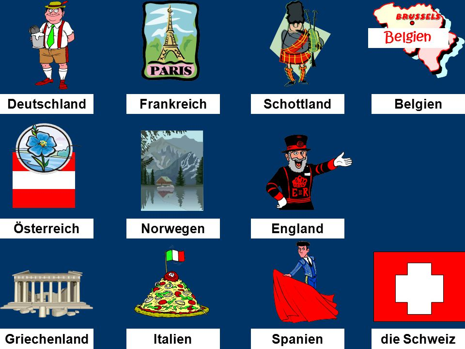 Ich bin nach...........gefahren. Deutschland
