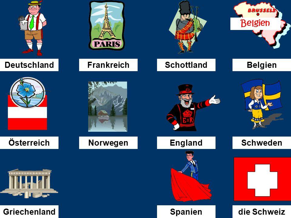 Ich bin in...........gefahren. die Schweiz