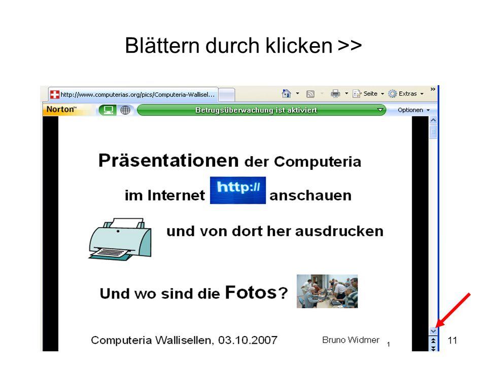 11 Blättern durch klicken >>