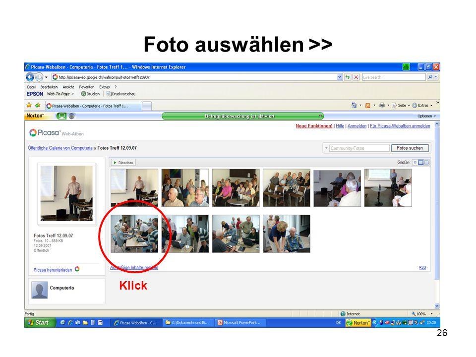 26 Foto auswählen >> Klick