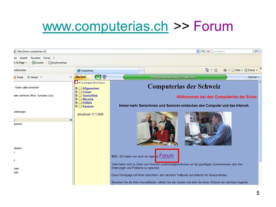 5 www.computerias.chwww.computerias.ch >> Forum
