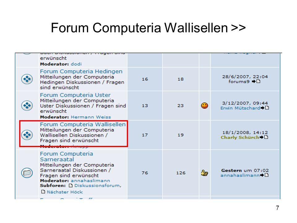 7 Forum Computeria Wallisellen >>