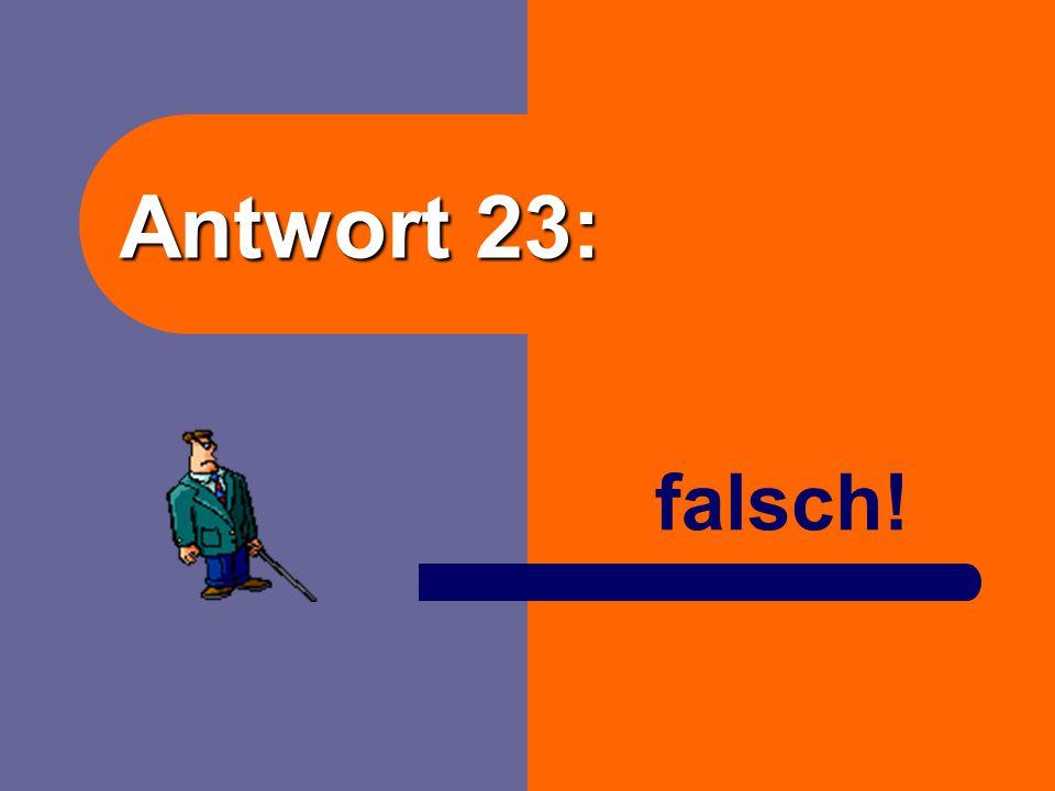 """Frage 23: Ein privates Altenheim gehört zum Sektor """"privater Haushalt"""". richtig oder falsch?"""