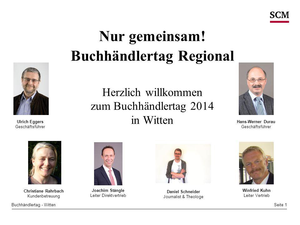 Seite 1Buchhändlertag - Witten Nur gemeinsam.