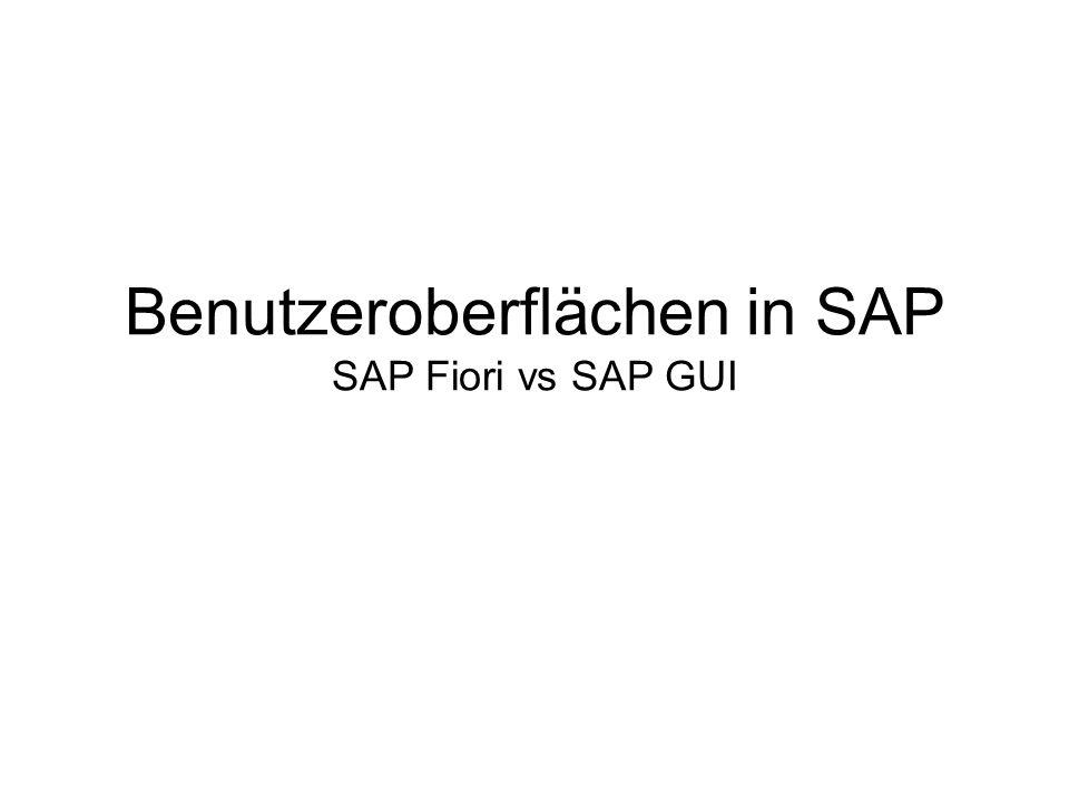 SAP Fiori vs SAP Screen Personas Was ist die Hauptpriorität in der Verbesserung der Usability.