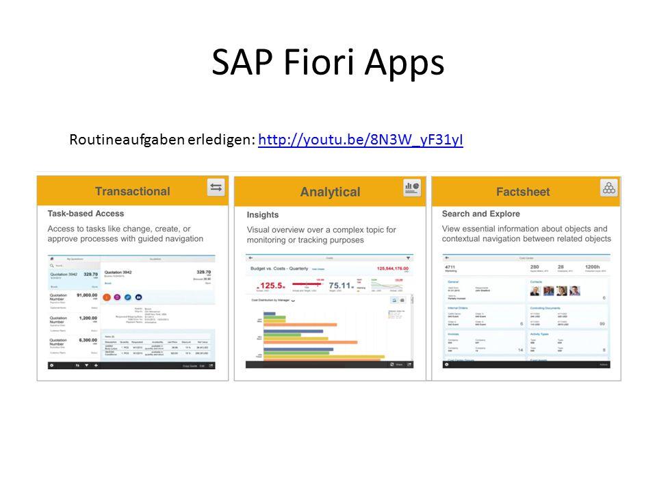 Derzeitige Zielvorgabe UX SAP