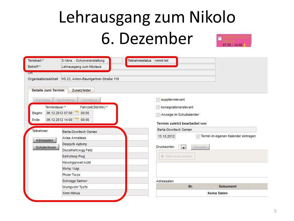 Lehrausgang zum Nikolo 6. Dezember 5