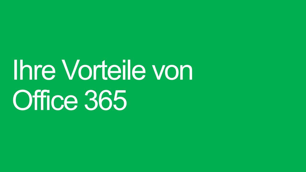 Ihre Vorteile von Office 365