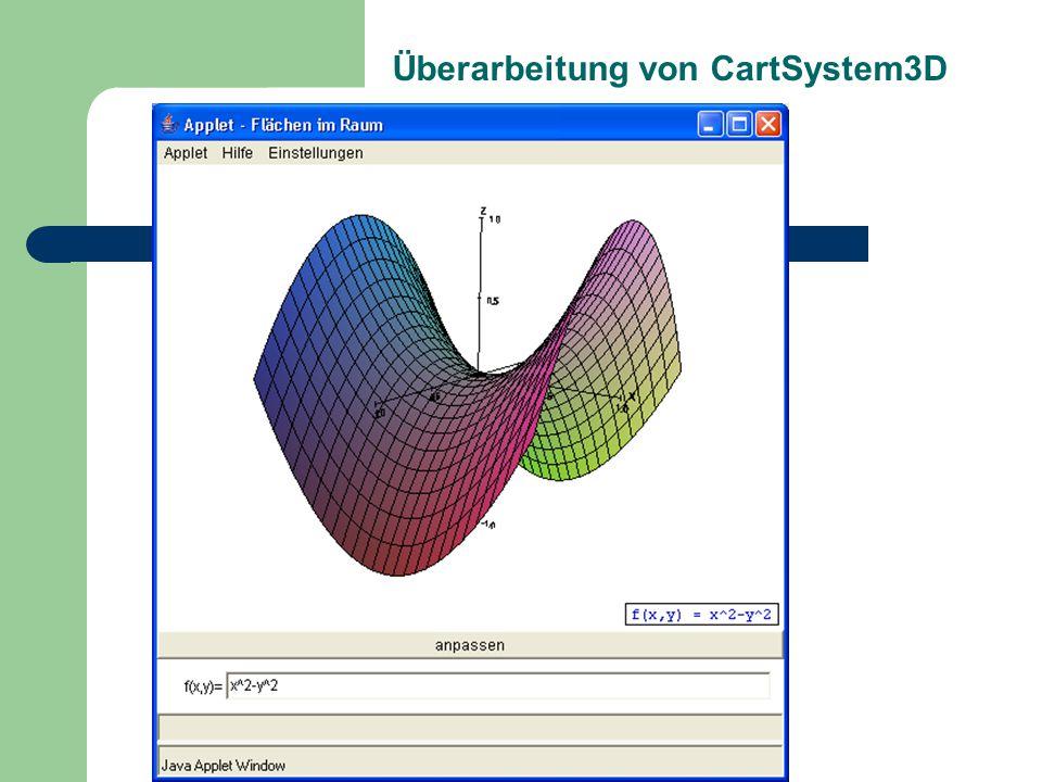 Überarbeitung von CartSystem3D
