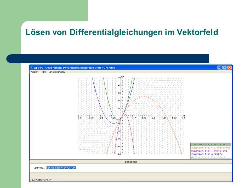 Lösen von Differentialgleichungen im Vektorfeld