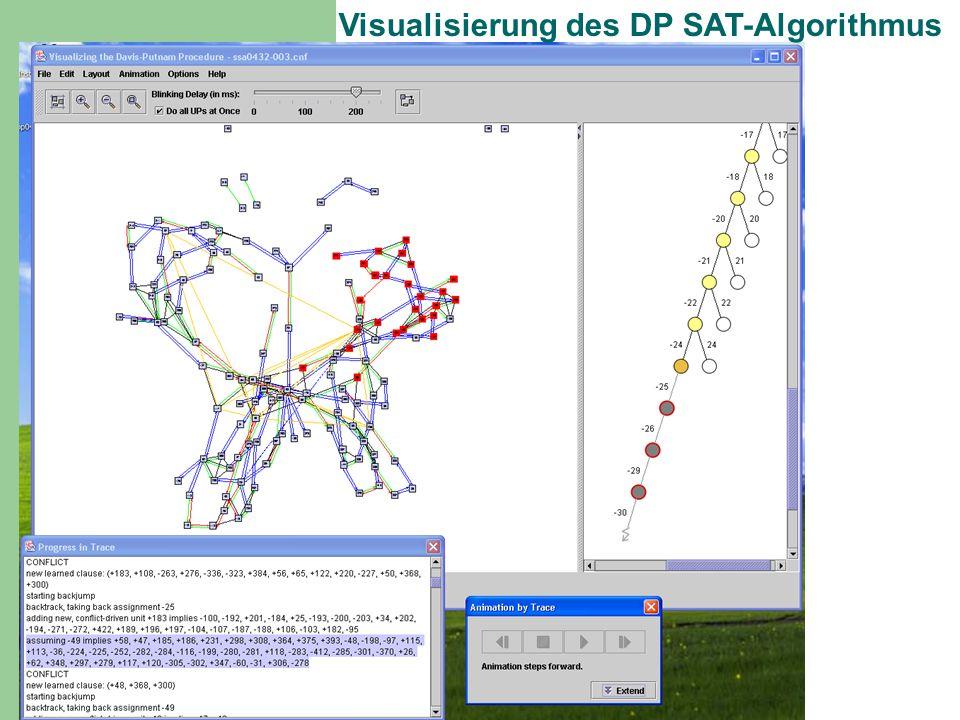 Visualisierung des DP SAT-Algorithmus