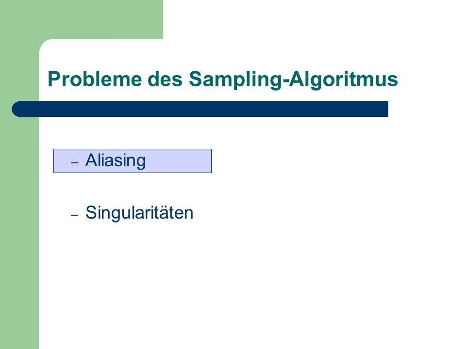 Probleme des Sampling-Algoritmus – Aliasing – Singularitäten