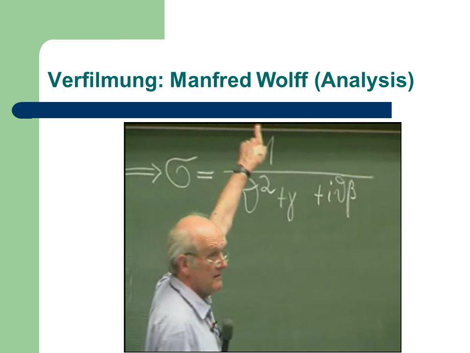 Verfilmung: Manfred Wolff (Analysis)