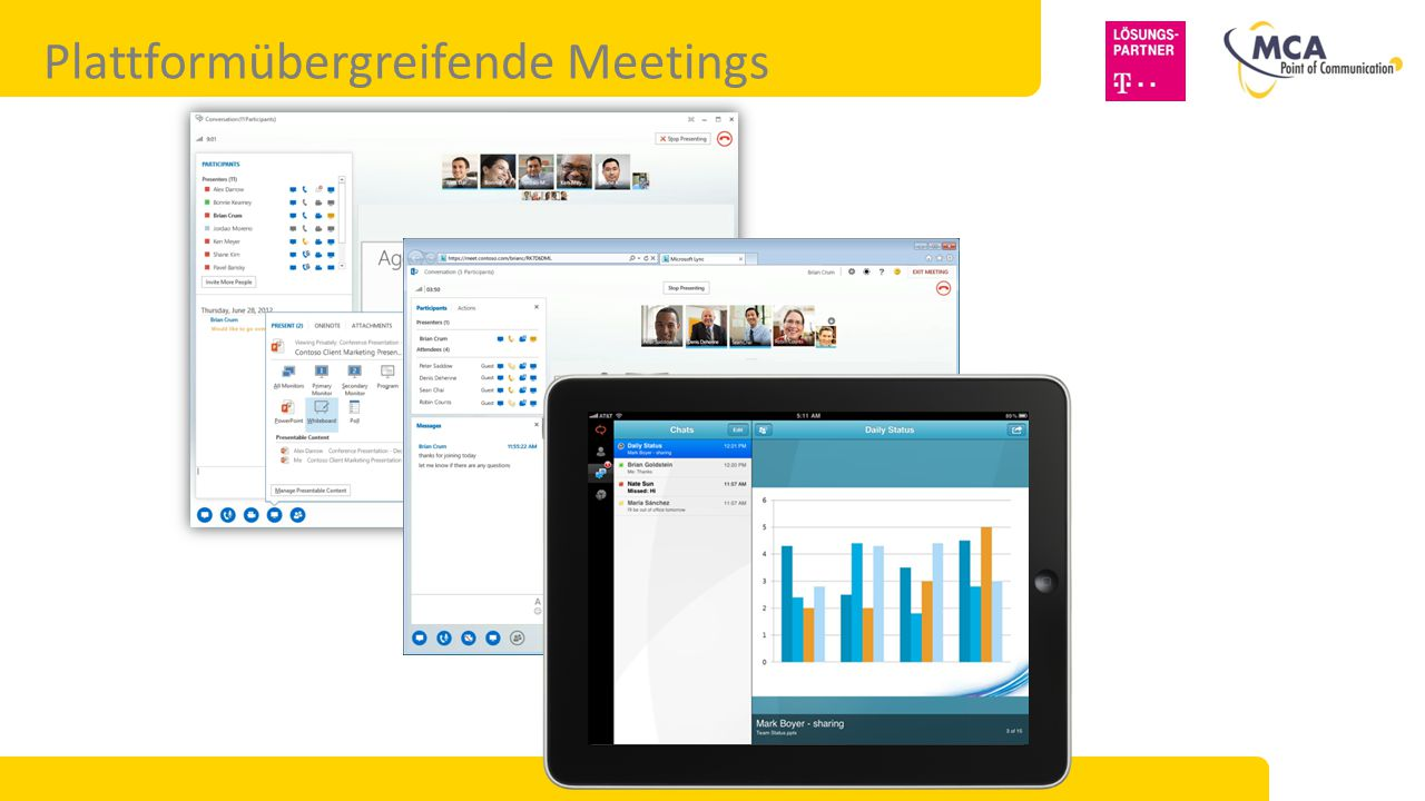 Plattformübergreifende Meetings