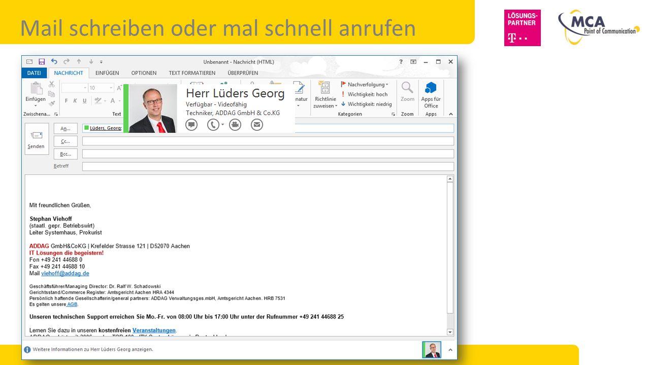 Mail schreiben oder mal schnell anrufen