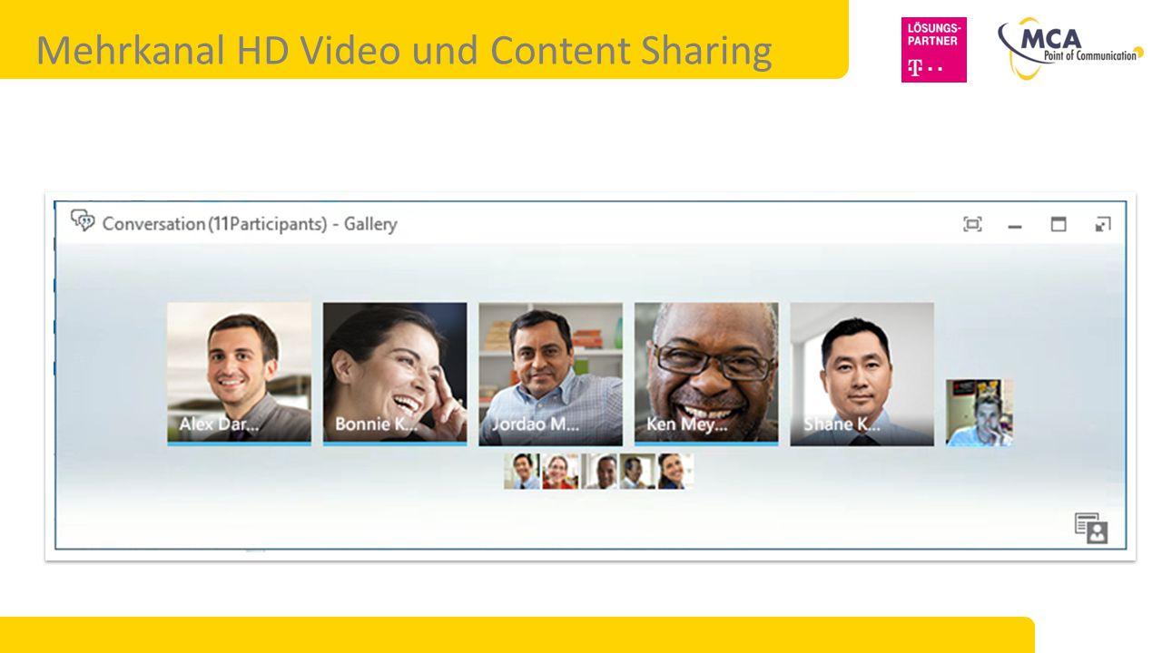 Mehrkanal HD Video und Content Sharing