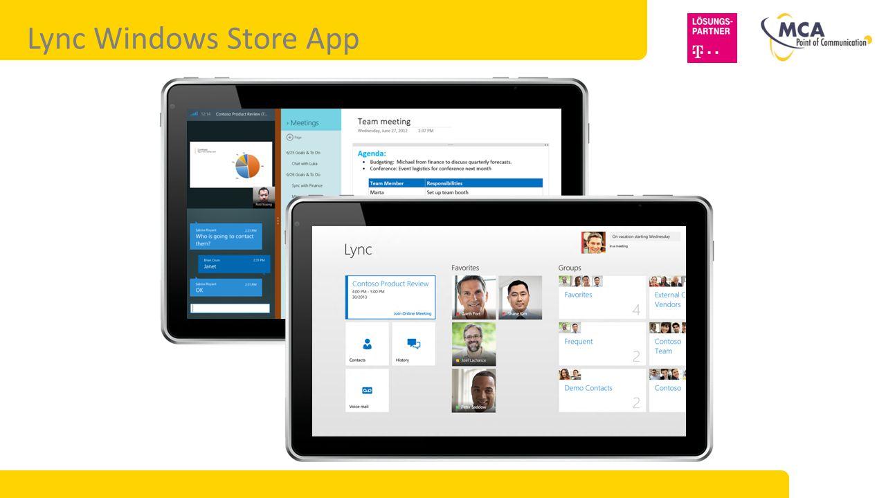Gerätespezifische Lync-Apps
