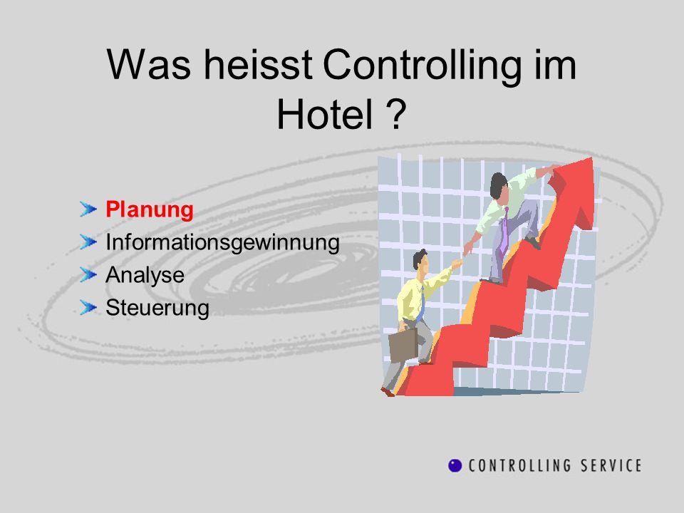 Was heisst Controlling im Hotel ? Planung Informationsgewinnung Analyse Steuerung