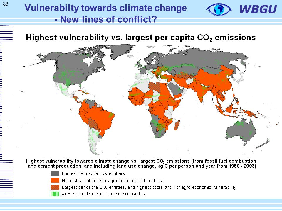 38 Vulnerabilty towards climate change - New lines of conflict