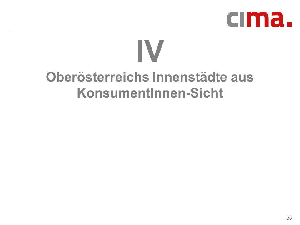 38 IV Oberösterreichs Innenstädte aus KonsumentInnen-Sicht