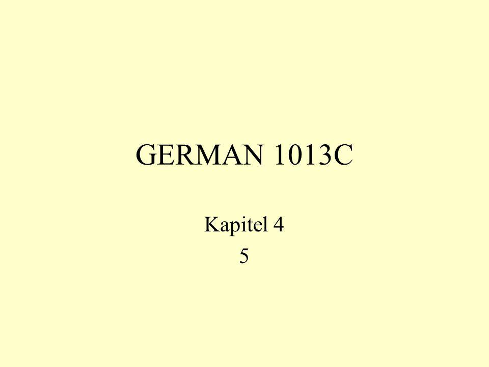 GERMAN 1013C Kapitel 4 5