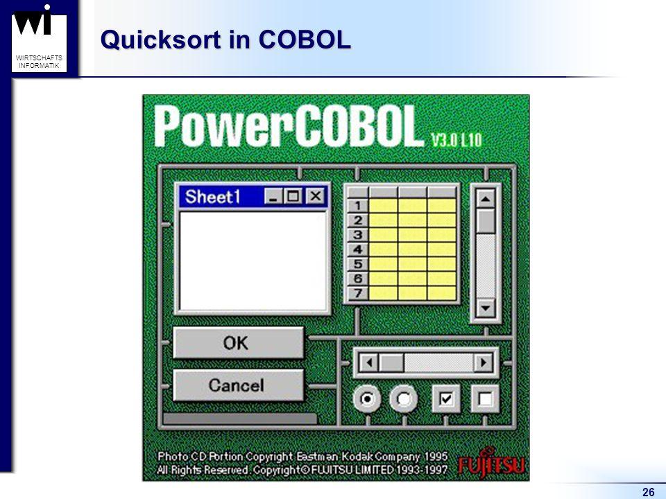 26 WIRTSCHAFTS INFORMATIK Quicksort in COBOL