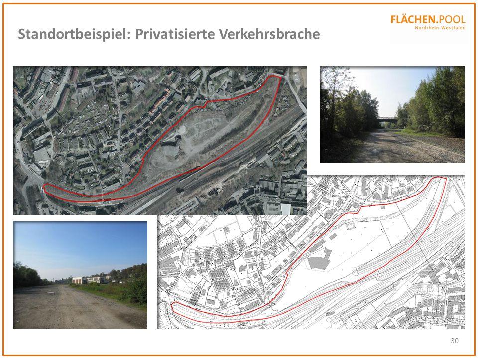 30 Standortbeispiel: Privatisierte Verkehrsbrache