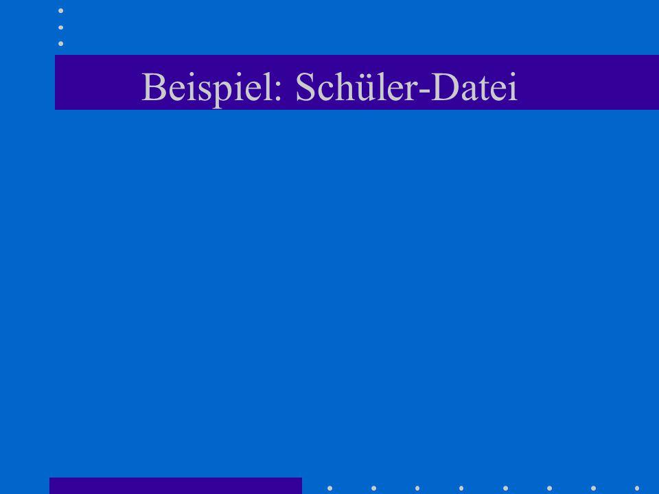 Wertzuweisung an 4.Schüler : with kursliste[4].geburtstag do begin Tag := 18 ; Monat := 'Jan' ; Jahr := 1985 end;