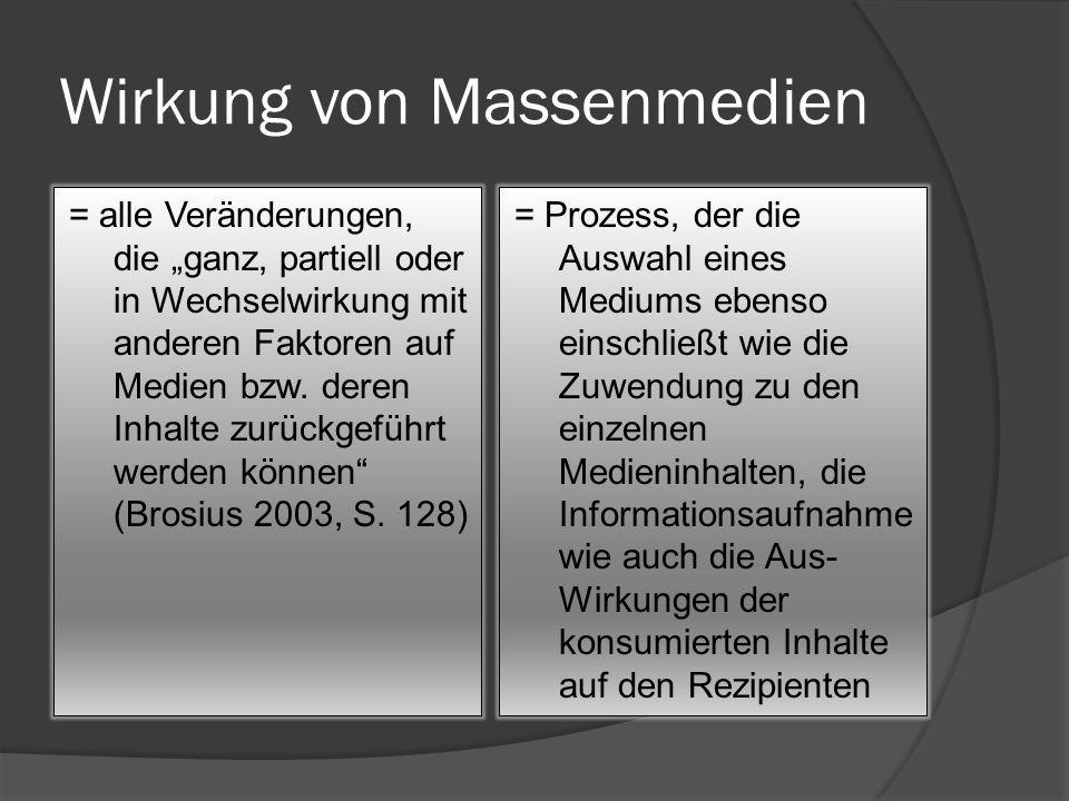 Phasen der Medienwirkung 1.