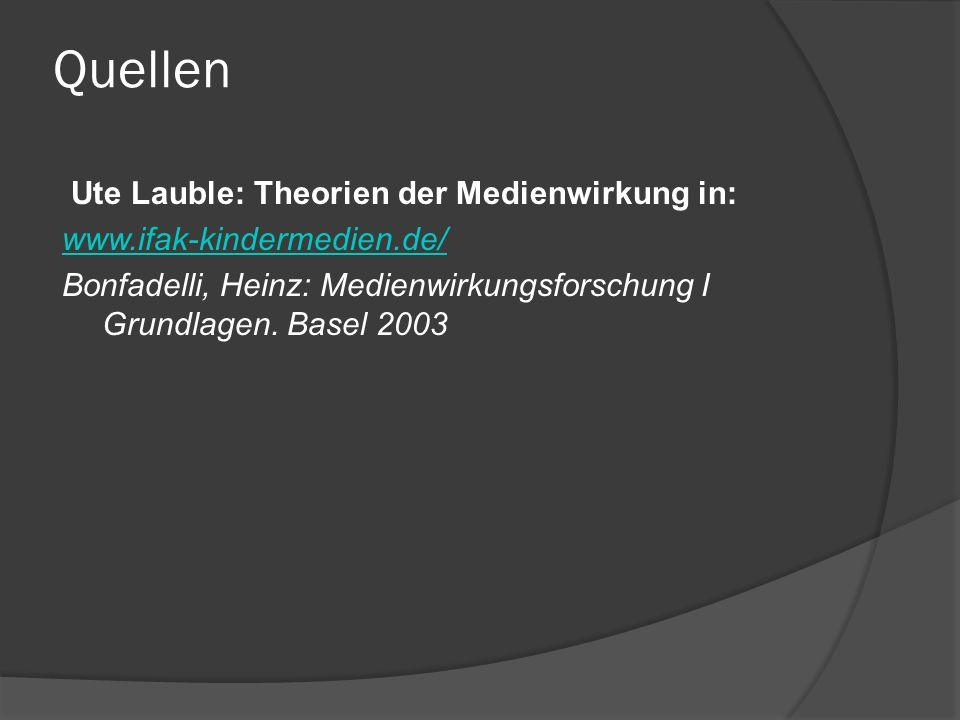 Einordnung der Medienwirkungstheorien förderndhemmend Stimulationstheorie Erregungstransfertheorie Kultivierungsthese Rationalisierungstheorie Suggestionstheorie Habitualisierung Katharsisthese Inhibitionsthese