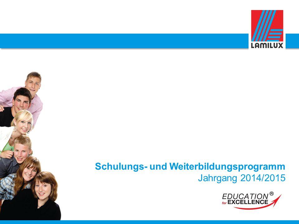 Schulungs- und Weiterbildungsprogramm Jahrgang 2014/2015