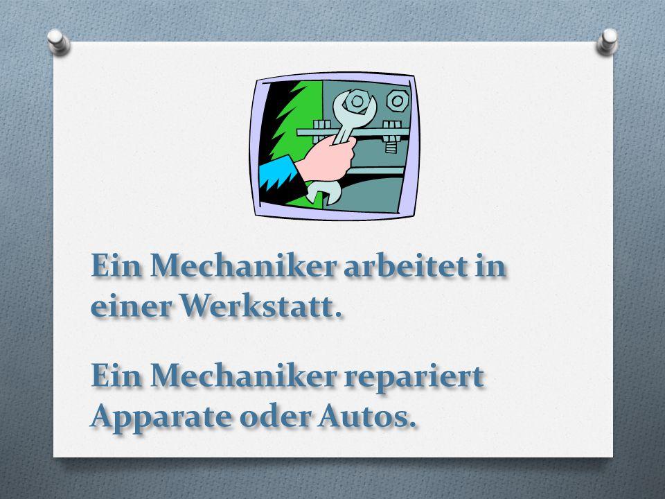 Ein Mechaniker arbeitet in einer Werkstatt. Ein Mechaniker repariert Apparate oder Autos.
