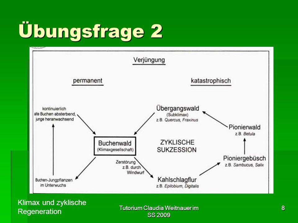 Tutorium Claudia Weitnauer im SS 2009 8 Übungsfrage 2 Klimax und zyklische Regeneration
