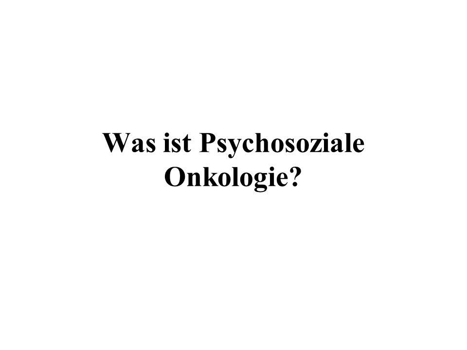 Zielsetzungen psychoonkologischer Interventionen Verbesserte Bewältigung krankheits- und/oder behandlungsbedingter Symptome Reduktion von Angst, Depressivität, Hoffnungslosigkeit, Hilflosigkeit Stärkung des Selbsthilfepotentials (Selbstkontrolle, Selbstverantwortung)